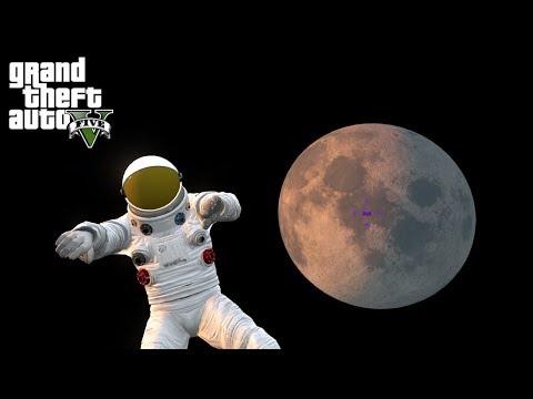 VISITANDO LA LUNA!! EL PRIMER HOMBRE EN EL ESPACIO!!  - Grand Theft Auto V