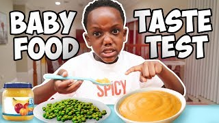 Super Siah Tries Baby Food For The First Time
