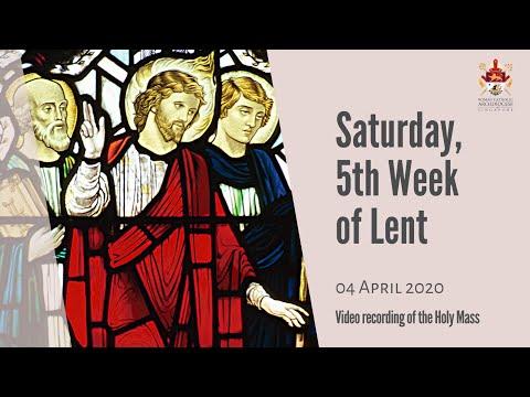 Catholic Weekday Mass Online - Saturday of Week 5 in Lent