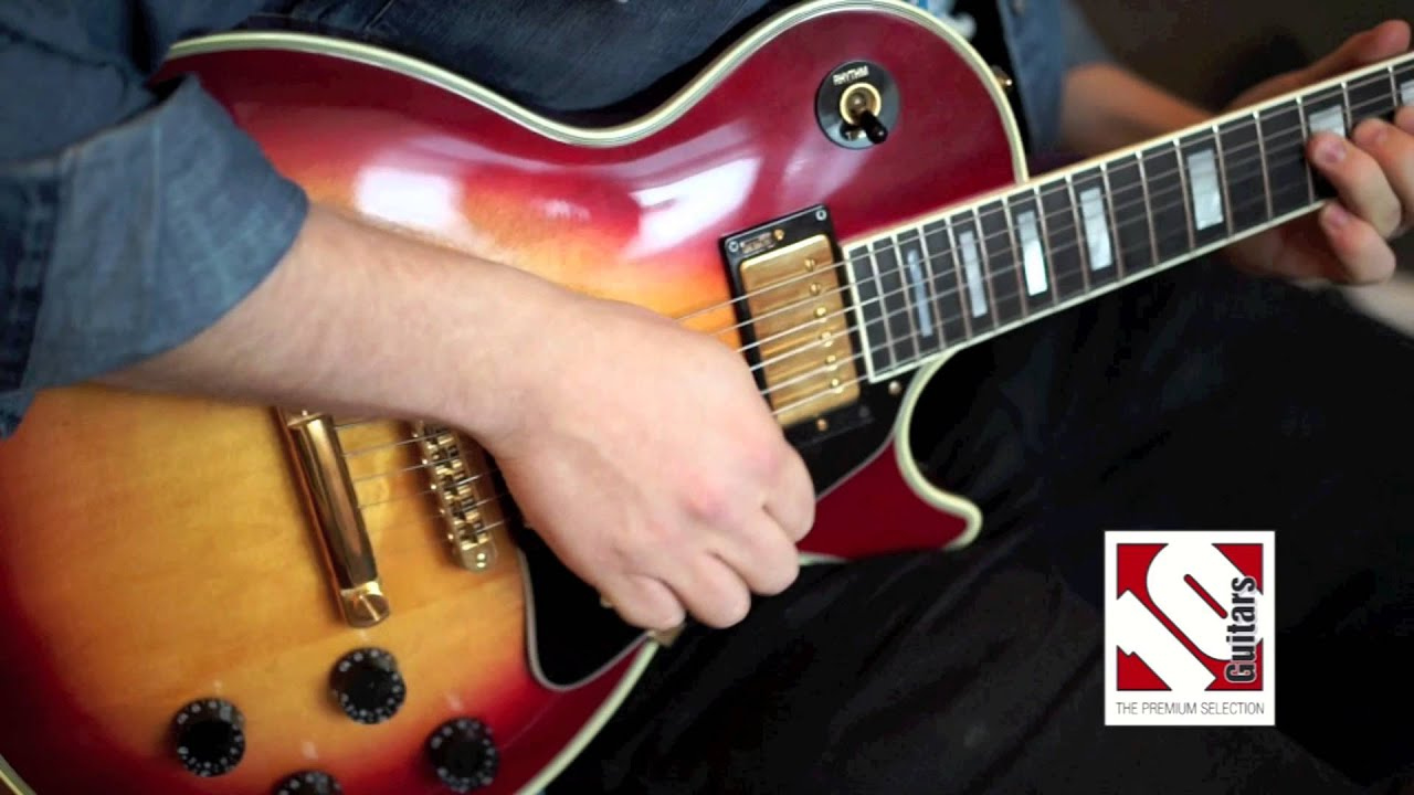 gibson les paul custom cherry sunburst 1983 with loop control
