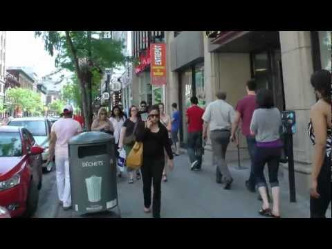 Montreal Downtown, Rue Sainte-Catherine , Quebec, Canada June 2012 - [ Full HD 1080p ] By Durachiu