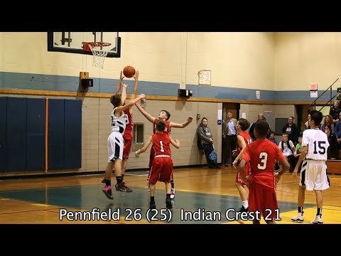 Indian Crest at Pennfield Chargers - 1.23.18 7th Grade Boys Basketball