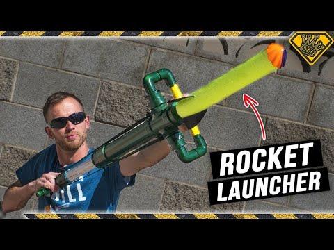 PVC Rocket Launcher & Pool Noodle Rockets! PVC + Air Pressure + Foam = The Best PVC Pipe Projects