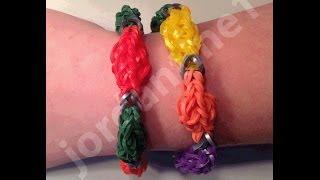 New Rainbow Loom Holiday Christmas Light Bulb Bracelet