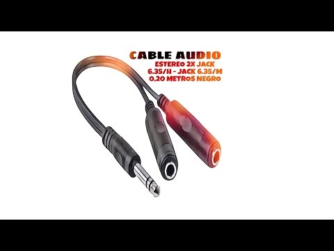 Video de Cable de audio estereo 2xJACK 6.35/H-JACK 6.35/M 0.20 M Negro