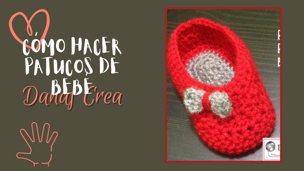 Crochet Tutorial Zapatitos : Tutorial de patucos o zapatitos de bebE a crochet o ganchillo ...