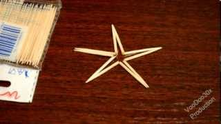 The toothpicks star trick - Trick with toothpicks - Riddles and magic tricks