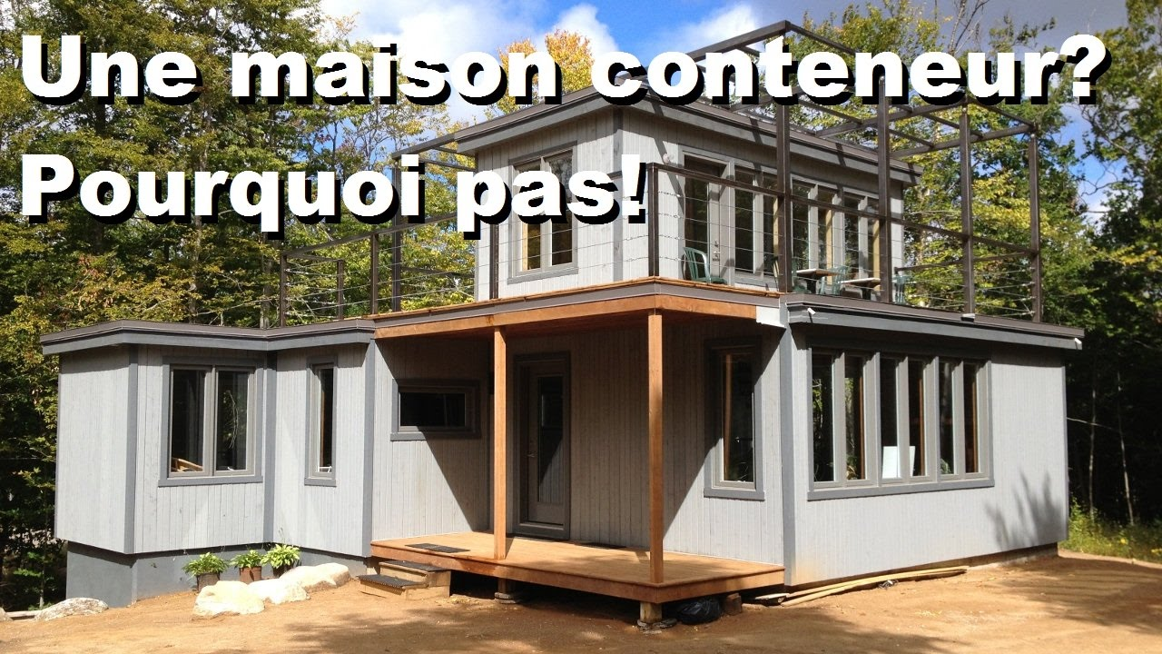 comment construire sa maison conteneur contactez maisons optimum youtube. Black Bedroom Furniture Sets. Home Design Ideas