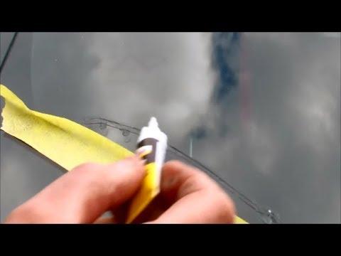 Ремонт сколов и трещин на лобовом стекле своими руками видео