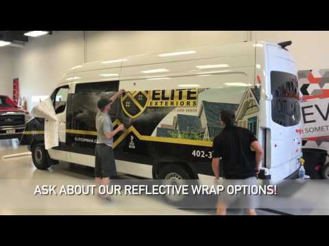 Reflective Sprinter Van Wrap by Revolution Wraps Omaha and Lincoln