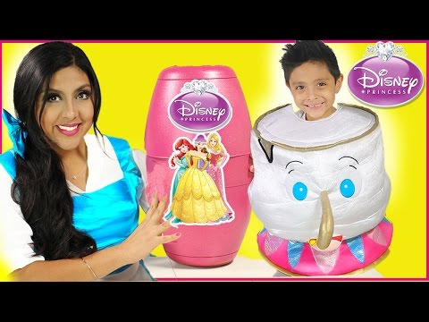 Thumbnail: Disney Princess Toys Belle Egg Surprise movie IRL costume kids princesa playdoh dolls carriage