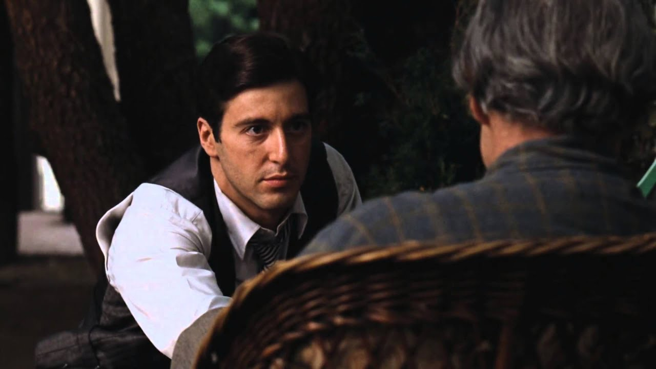 Scarface Full Hd Wallpaper Marlon Brando Amp Al Pacino Best Scene From Godfather 1972