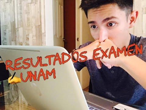 Viendo resultados EXAMEN UNAM