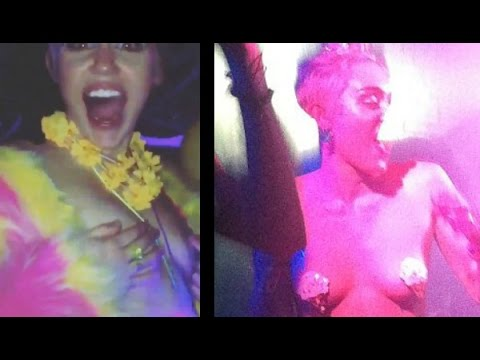 Miley Cyrus Goes Topless At Her Wild Birthday Party