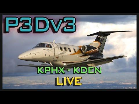 P3D | LIVE | KPHX - KDEN | CARENADO PHENOM 100