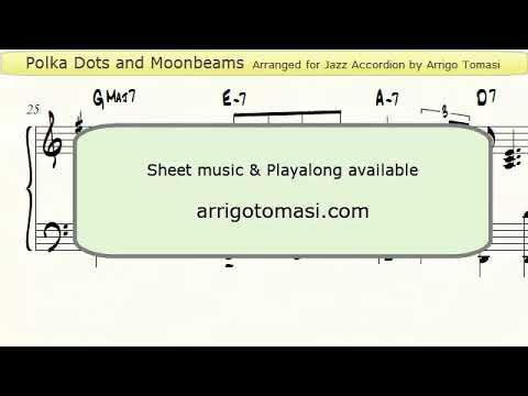 Polka Dots and Moonbeams - Jazz Accordion sheet music