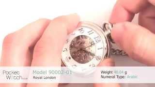 Royal London 90002-01 Open Face Mechanical Pocket Watch