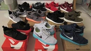 My Roshe Run Collection!