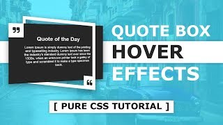 CSS Quote Box Hover Effects - CSS 3d Perspective