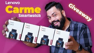 Lenovo Carme Smartwatch Unboxing & First Impressions + 4X Giveaway!!