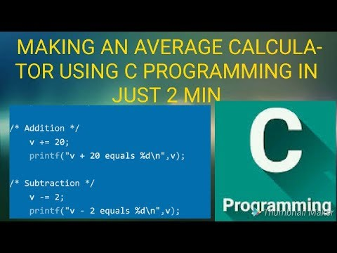 Making an average calculator using c programming in code blocks in just 2 min by boss for the bros