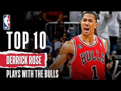 Derrick Rose S Top 10 Plays With The Bulls Youtube
