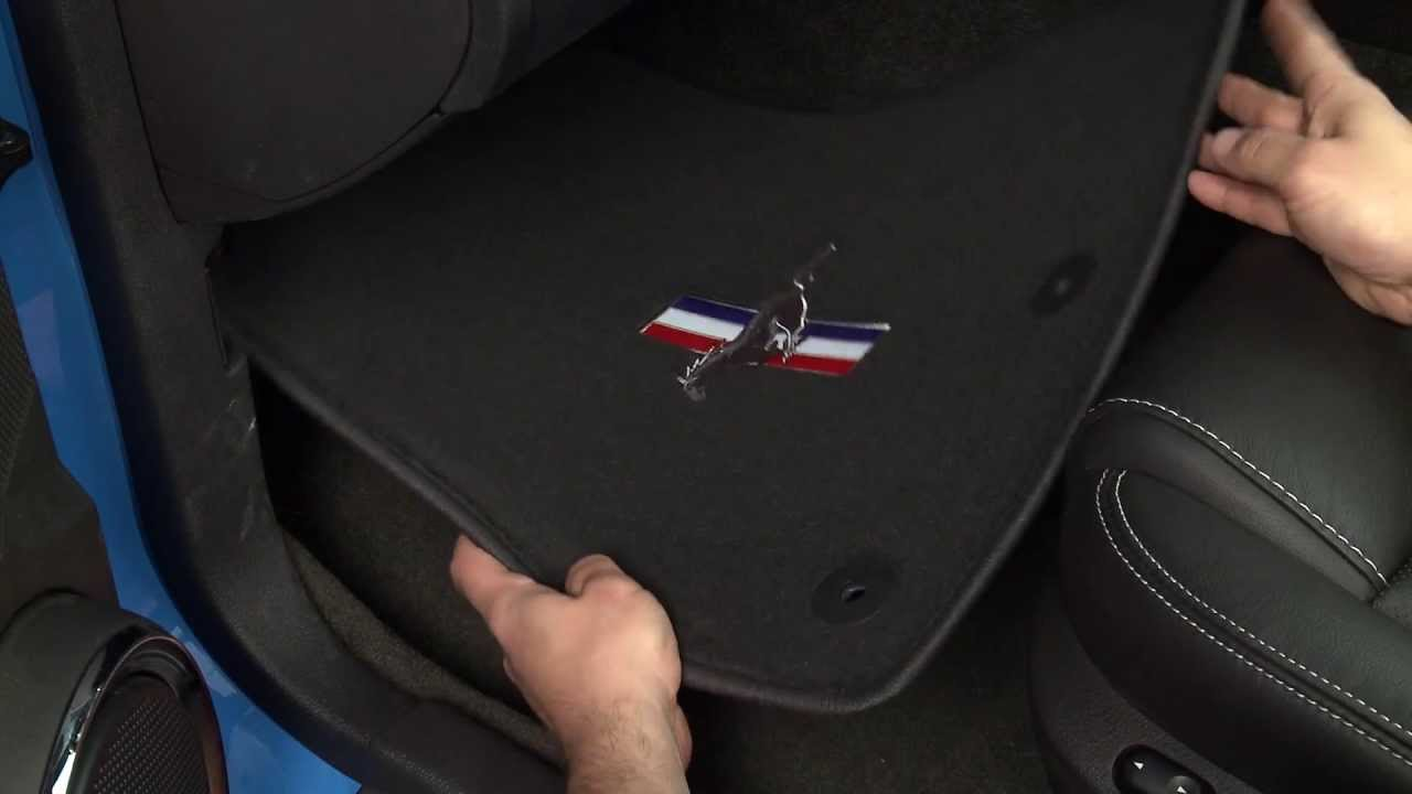 Mustang Dark Charcoal Floor Mats 13 14 All Review Youtube
