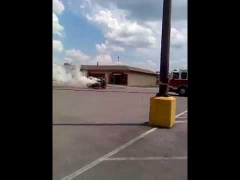 Car on fire in Bristol va