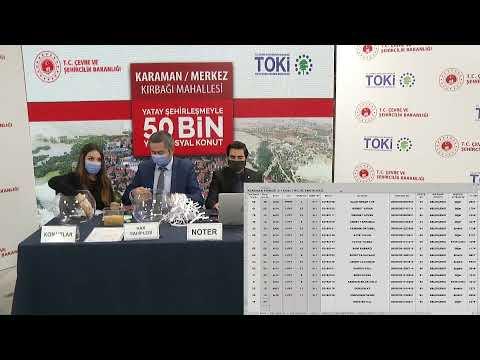 50 Bin Yeni Sosyal Konut / Karaman Kırbağı Mah. Projemizin Kurası Başlıyor