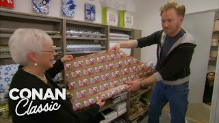 Conan Learns To Wrap Holiday Presents - CONAN on TBS