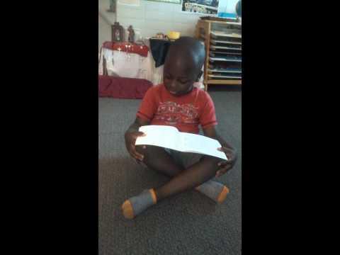 Loving Arms Montessori 4 year reading 2015