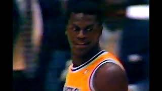 Hawks at Lakers, 1990 (Chick/Stu)