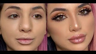 FAKE A NOSE JOB! Contouring your nose! | SadiaSlayy