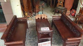 Bộ ghế trường kỷ gồm 3 thứ( trường tích)gỗ gụ mật2_8_2016
