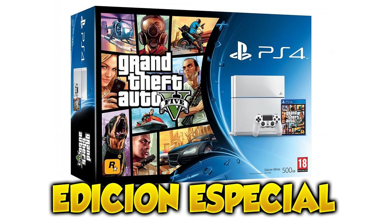 Playstation 4 Edicion Especial Gta V Kit Bunddle Grand Theft Auto 5