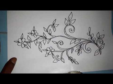Menggambar Batik Bunga Mudah Dan Gampang Youtube