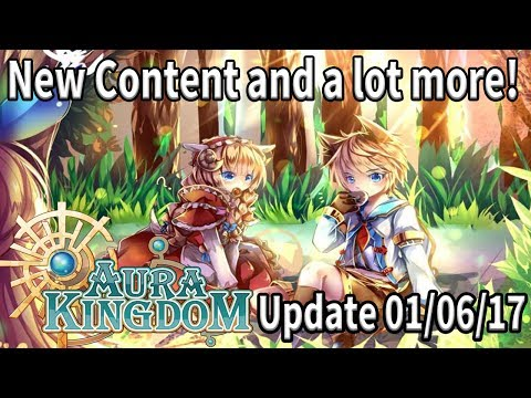 New Lv Cap, Secret Stones and more! | Aura Kingdom.to Update 01/06/2017