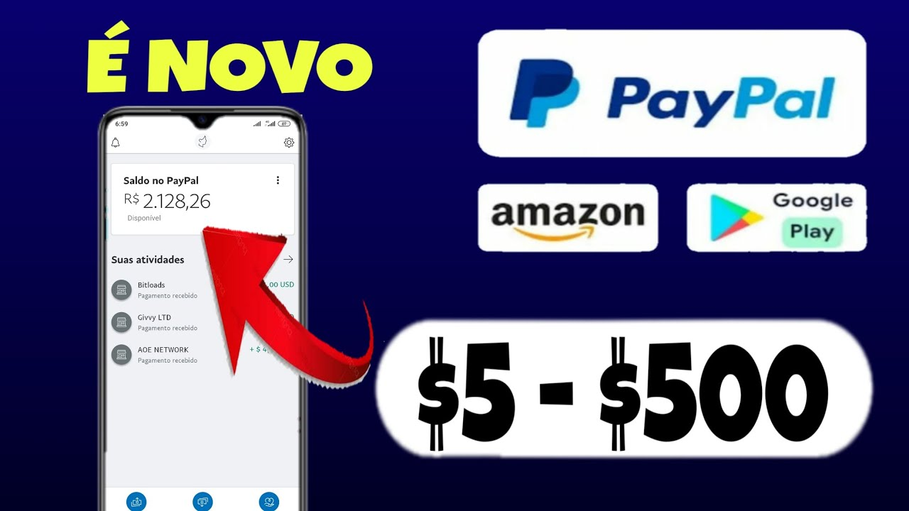 É NOVO! Como Ganhar Dinheiro no PayPal e Saldo na Google Play Store e Amazon 2020