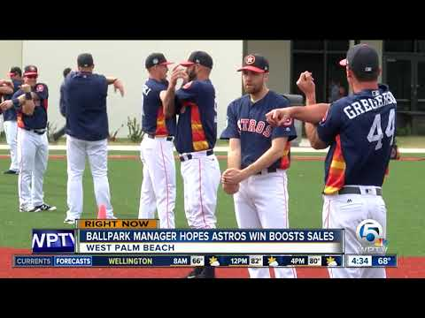 Astros' success could boost sales for spring training in West Palm Beach