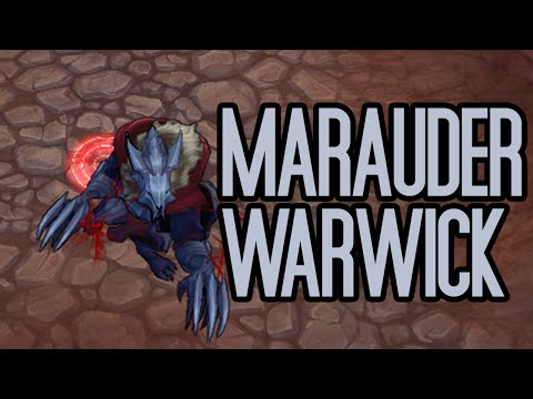 Marauder Warwick Skin Spotlight Gameplay - League of Legends