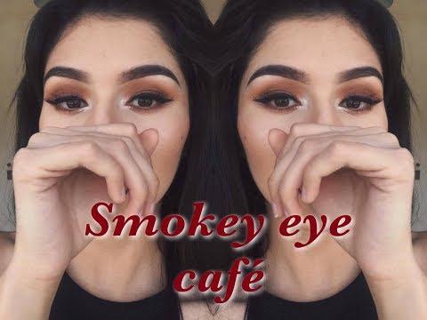 Smokey eye café sencillo