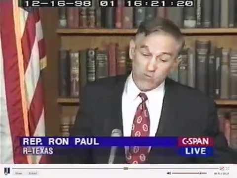 Ron Paul 1998 - Clinton Impeachment and Iraq (CSPAN).mov