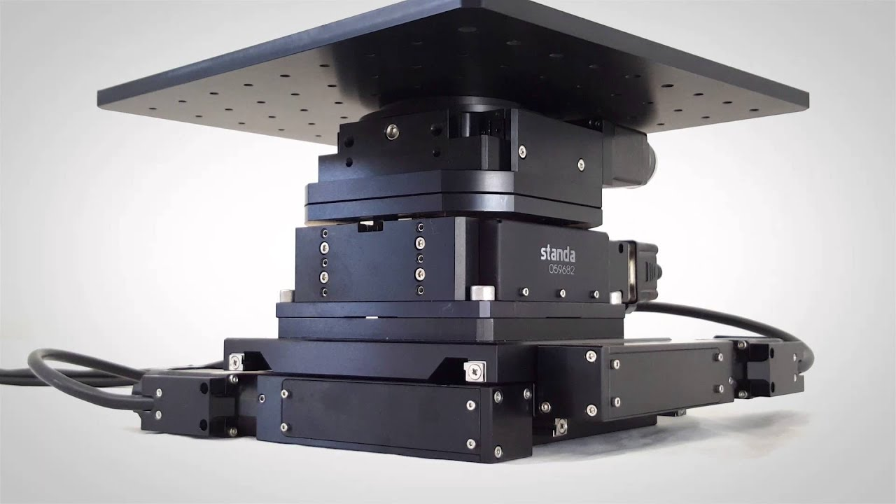 4 axis motorized stage xyz linear translation rotation