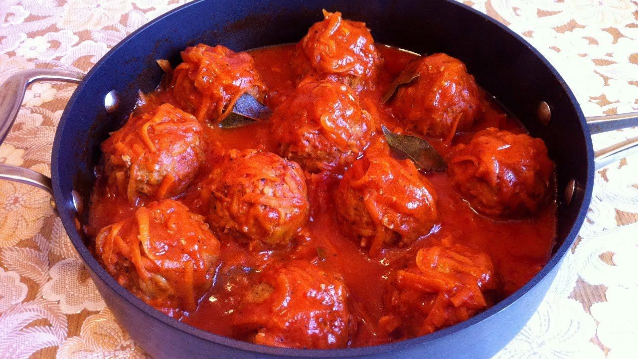 Мясные Ежики в Томатном Соусе / Тефтели с Рисом / Meatballs With Rice / Простой Рецепт (Вкуснятина)