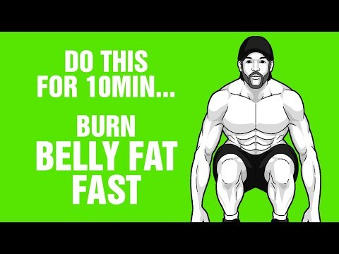 10 Mins Of This Burns Belly Fat Fast - 100% Bodyweight Workout - Sixpack Factory