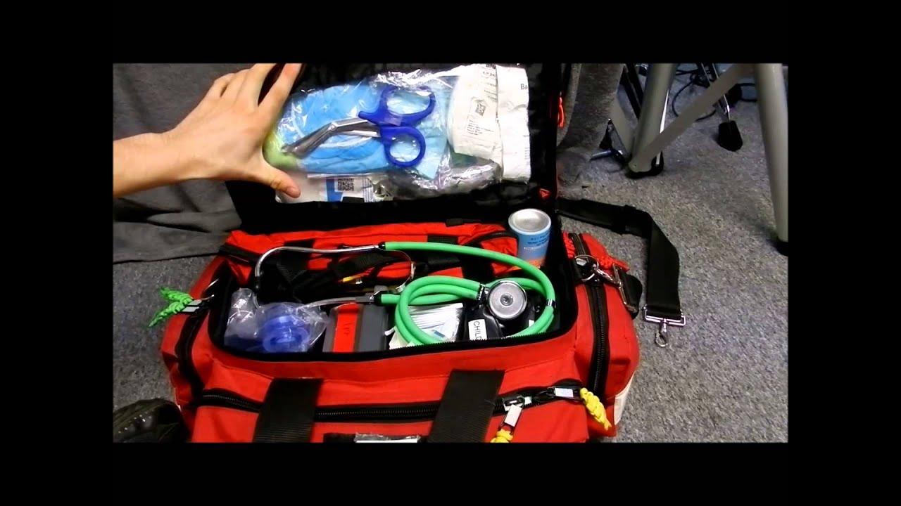 Kemp Professional Trauma Bag Ems Emt Paramedic First Responder