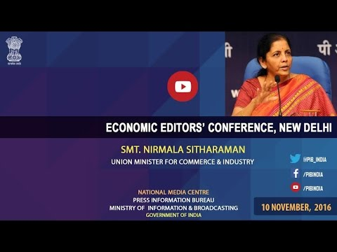 #EEC2016: Media Interaction with Smt. Nirmala Sitharaman, Union Minister for Commerce and Industry