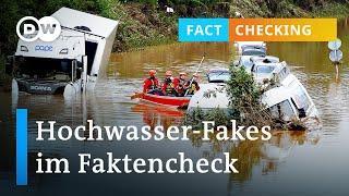 Die Fakes der Hochwasser-Katastrophe | DW Nachrichten