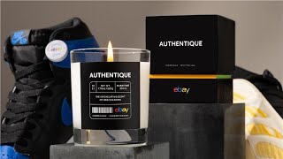 Authentique by eBay—A candle fragranced with the scent of new, authentic sneakers.