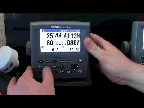 Koden KGP915 Manual Waypoint Instruction